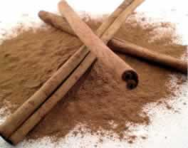 cinnamon powder and Sticks picture