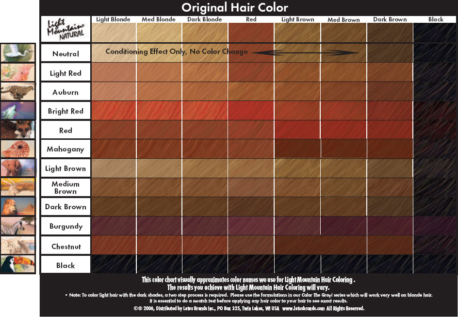 natural color mountain henna chart lighting www net light lightneasy