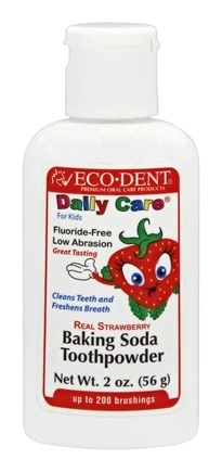 ECODENT: Toothpowder For Kids Strawberry 2 oz