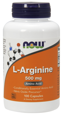 NOW: ARGININE 500mg 100 CAPS 100 CAPS
