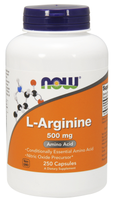 NOW: ARGININE 500mg 250 CAPS 250 CAPS