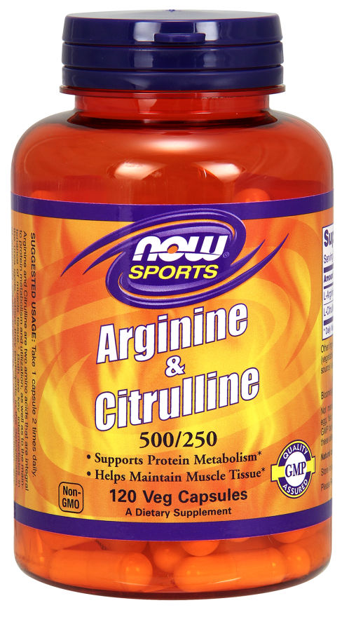 NOW: Arginine & Citrulline 500 / 250 240 Veg caps