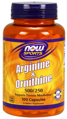 NOW: ARGININE  ORNITHINE 100 CAPS 100 CAPS