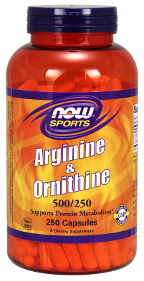 NOW: ARGININE  ORNITHINE 250 CAPS 250 CAPS