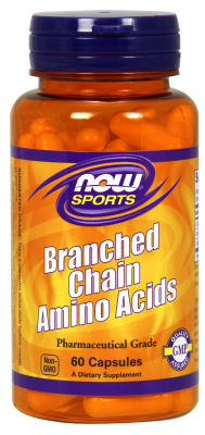 NOW: Branched Chain Amino Acids 60 Caps
