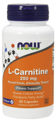 NOW: CARNITINE 250mg 60 CAPS 60 caps