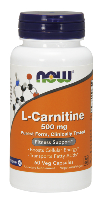 NOW: CARNITINE 500mg 60 CAPS 60 caps