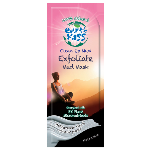 EARTH KISS: Clean Up Mud - Exfoliate Mud Mask 0.59 oz