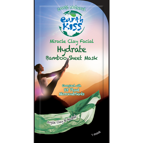 EARTH KISS: Miracle Clay Facial - Hydrate Bamboo Sheet Mask 1 pc