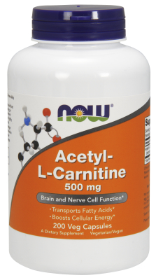 NOW: ACETYL L-CARN 500mg 200 CAPS