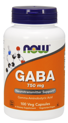 NOW: GABA 750mg 100 VCAPS