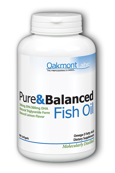 Oakmont Labs: Pure & Balanced Omega-3 Fish Oil 1000mg Lemon (Btl-Plastic) 60 Softgel