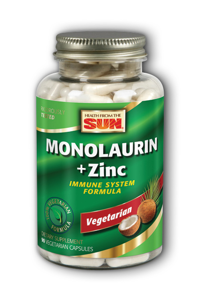 Monolaurin + Zinc 1000 mg, 90 ct