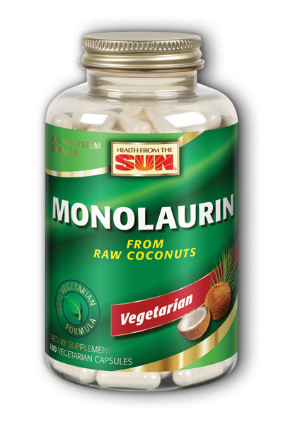 Health From The Sun: Monolaurin (From Raw Coconuts) 180 Vcaps