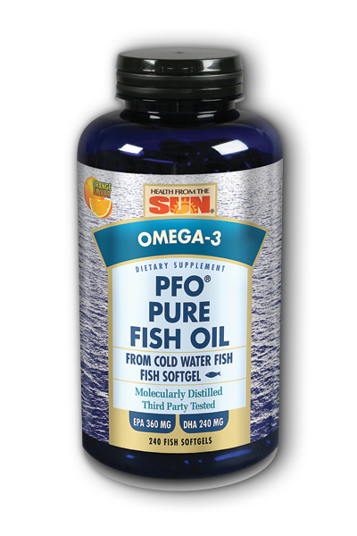 Health From the Sun: PFO Pure Fish Oil (Orange) 240 ct