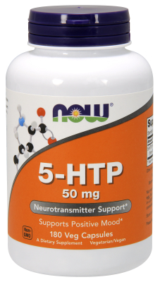 NOW: 5-HTP 50mg 180 Vcaps