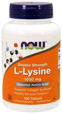 NOW: L-Lysine 1000mg 100 Tabs
