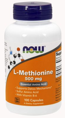 NOW: L-METHIONINE 500mg100 CAPS 1
