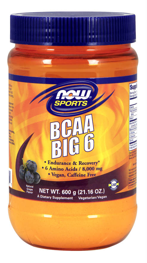 NOW: BCAA Big 9 Powder Grape Flavor 600 Grams