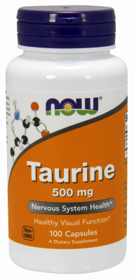 TAURINE 500mg 100 CAPS, 1