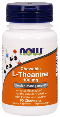 NOW: l-Theanine 100mg 90 Chewable Lozenges