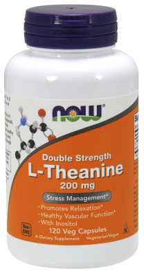 NOW: L-Theanine 200mg 120 Vcaps