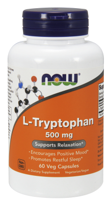 L-Tryptophan 500 mg, 60 Vcaps