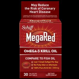 Mega red krill oil 300mg 30 softgel from schiff for Mega red fish oil