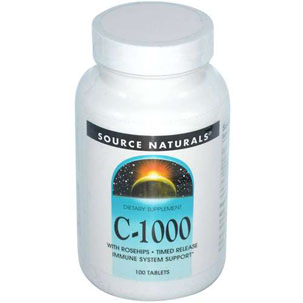 C-1000 With Rosehips 1000 mg Timed Release, 250 tabs
