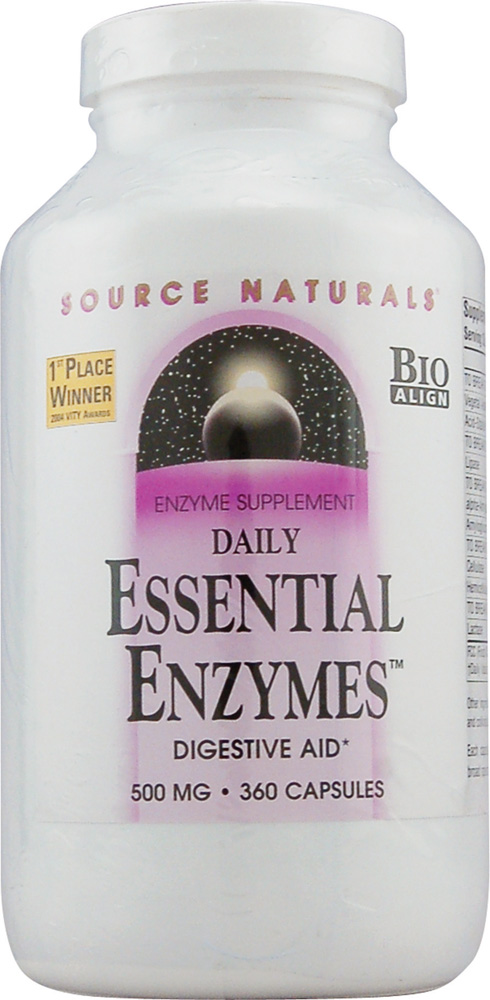 SOURCE NATURALS: Essential Enzymes 500MG 360 Caps