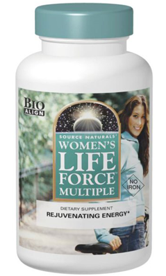 SOURCE NATURALS: Womens Life Force Multiple Without Iron 45 Tabs