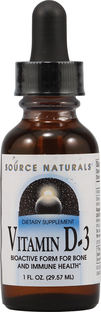 SOURCE NATURALS: VITAMIN D-3 LIQUID 1 OZ