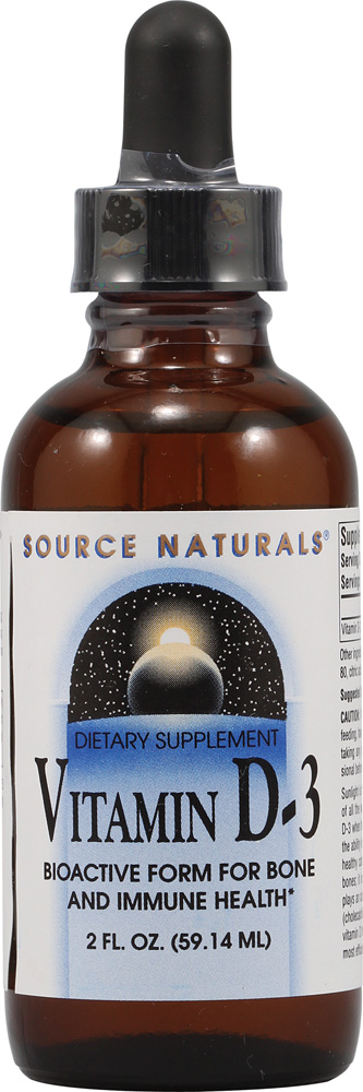 SOURCE NATURALS: VITAMIN D-3 LIQUID 2 OZ