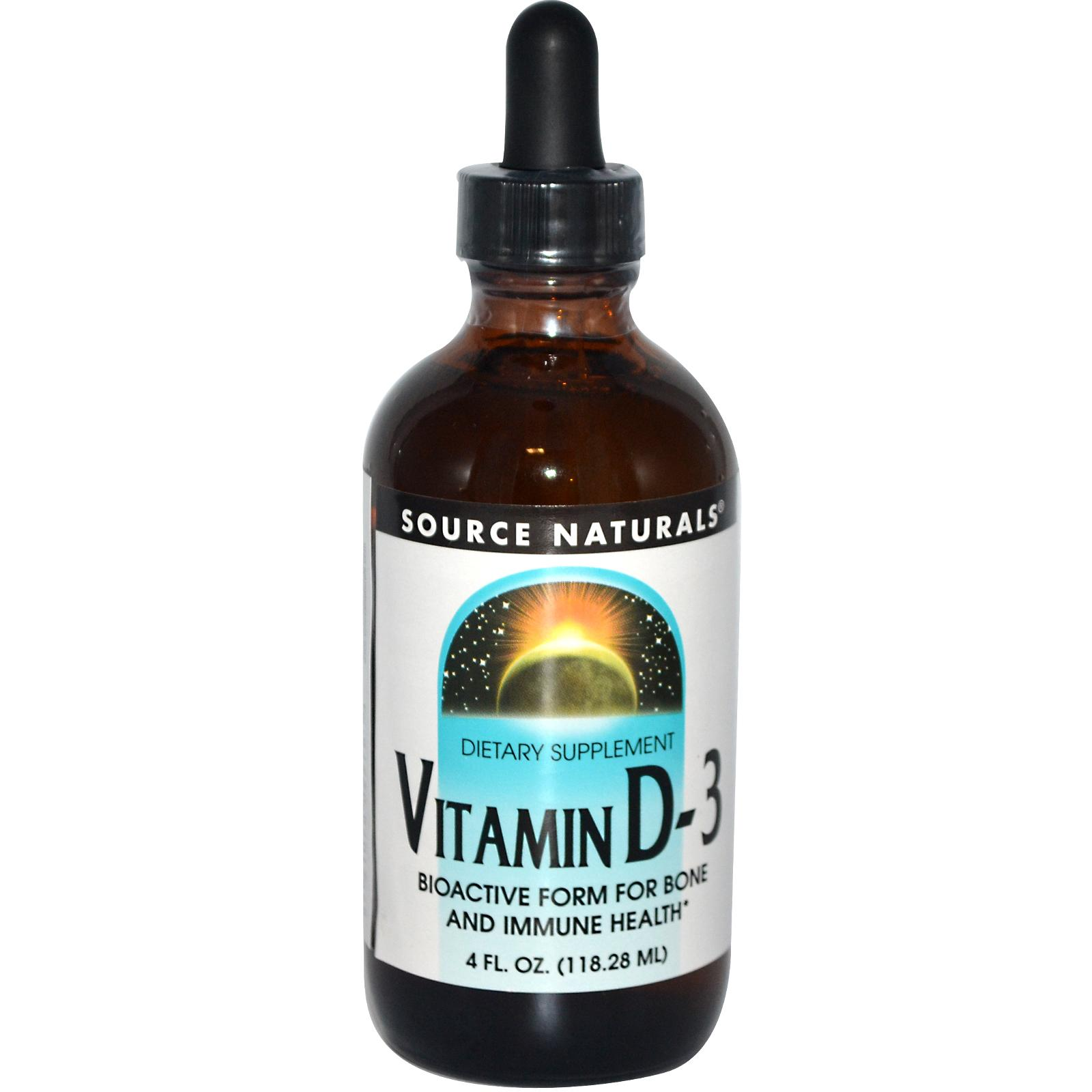 SOURCE NATURALS: VITAMIN D-3 LIQUID 4 OZ