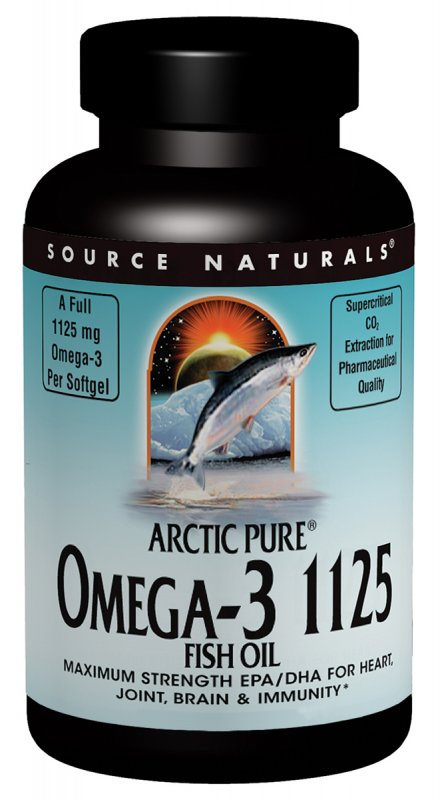 SOURCE NATURALS: ArcticPure Omega-3 1125 Fish Oil Enteric Coated 120 softgel