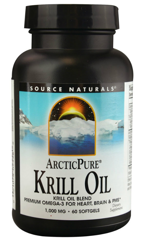 SOURCE NATURALS: ArcticPure Krill Oil 1000mg 60 softgel