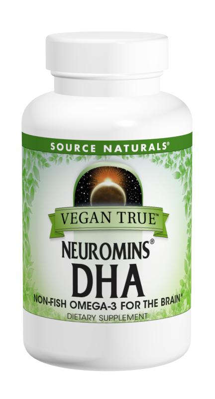 SOURCE NATURALS: Vegan True Neuromins DHA 200 mg 30 softgel
