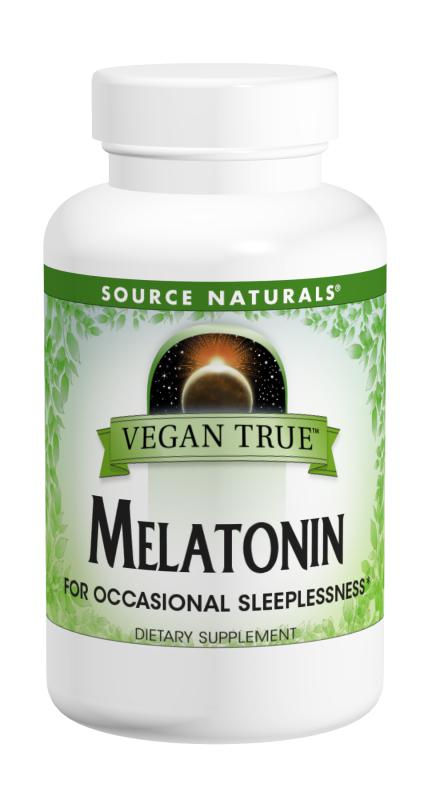SOURCE NATURALS: Vegan True Melatonin 2.5 mg Orange 60 tablet