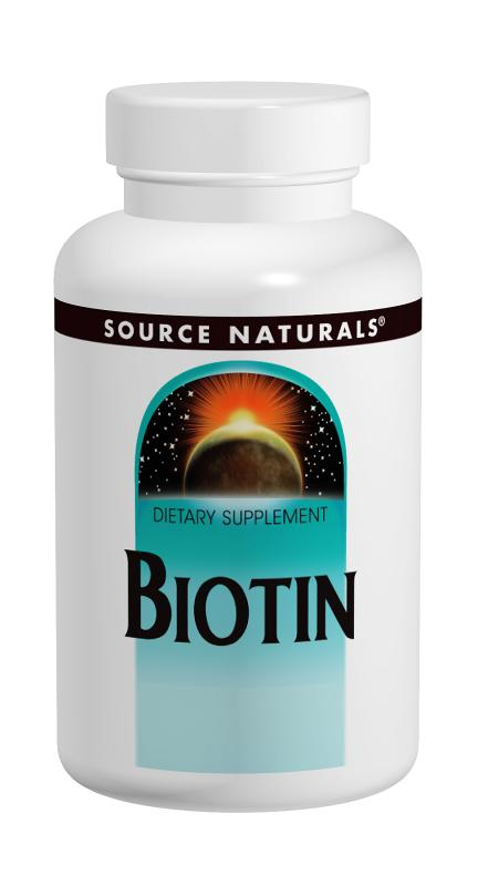 Biotin 10000 mcg 120 tablet from SOURCE NATURALS