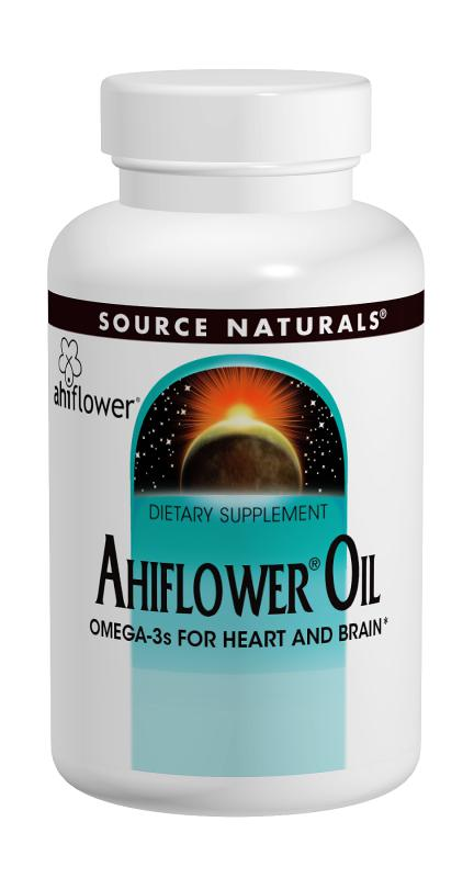 Ahiflower Oil 120 softgels from Source Naturals