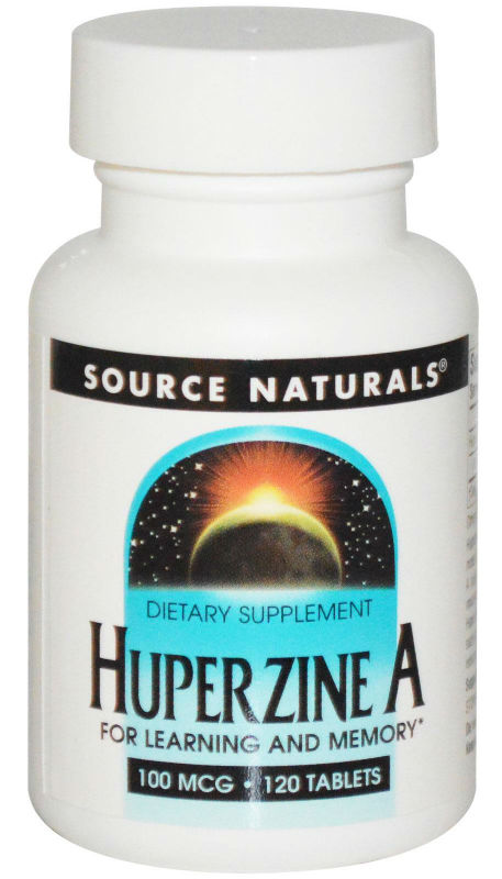SOURCE NATURALS BONUS: Huperzine A 100mcg 60+60t 120 tablets