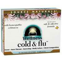 SOURCE NATURALS: Wellness Cold and Flu 48t Box x 12 pcs Tray 1 pc
