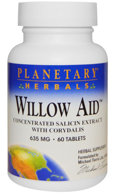 Willow Aid Std 7.5 Salicin 30+30t 0 from PLANETARY HERBALS SHRINK