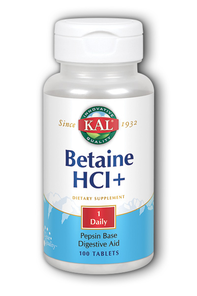 Kal: Betaine HCl 100ct