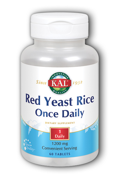 Kal: Once Daily Red Yeast Rice 60 ct