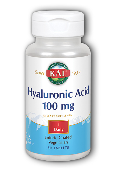 Kal: Hyaluronic Acid 100mg 30ct 100mg