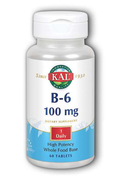 B-6 100mg 60 cap from Kal