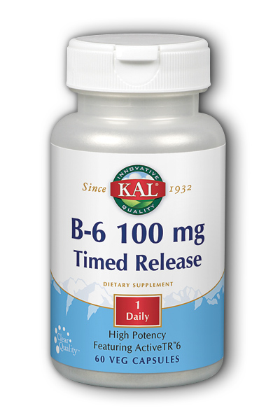 Kal: B-6 100mg Timed Release 60 Vegetarian Caps TR