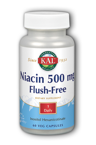 Kal: Flush-Free Niacin-500 60ct 500mg