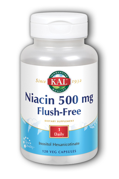 Kal: Flush-Free Niacin-500 120ct 500mg